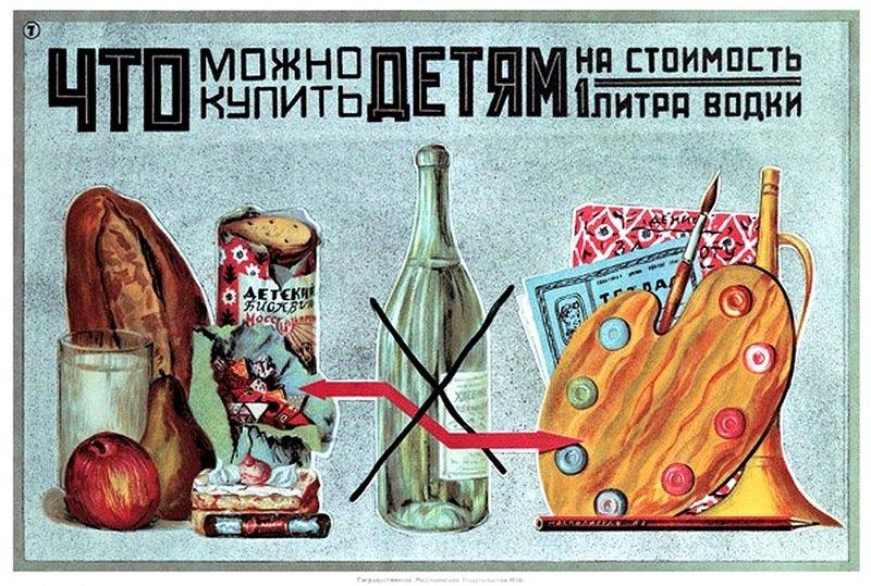 Плакаты против пьянства и алкоголизма